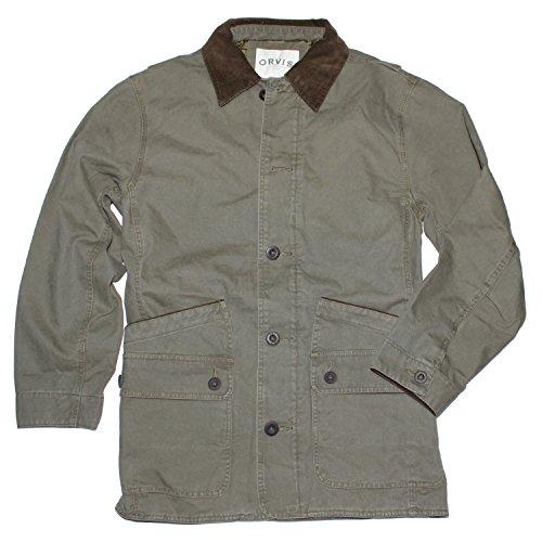Orvis Men's Corduroy Collar Cotton Barn Jacket (XX-Large, Sage) ()