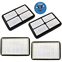 HQRP 4-pack HEPA Filter A for GermGuardian FLT4010 Replacement fits AC4010/AC4020 series Germ Guardian Table Top Air Purifiers + HQRP Coaster