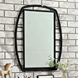 Charla Black Glass/Metal Frame Mirror by Furniture of America
