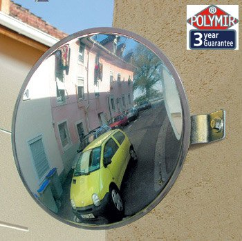 30cm Vialux Polymir Unbreakable 2 Way Convex Mirror - Traffic, Driveway, Safety & ... 103ESP