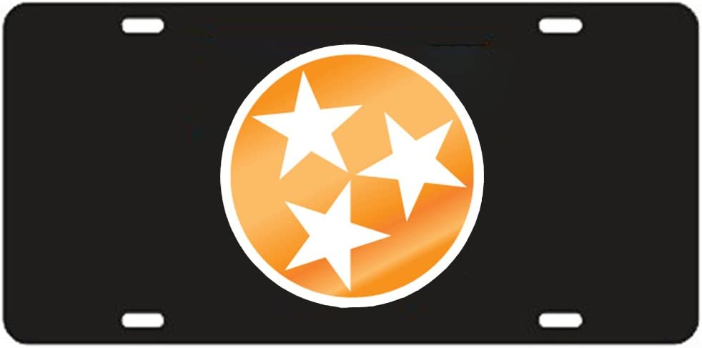 Craftique Tennessee Volunteers Orange TN//T Laser Cut License Plate