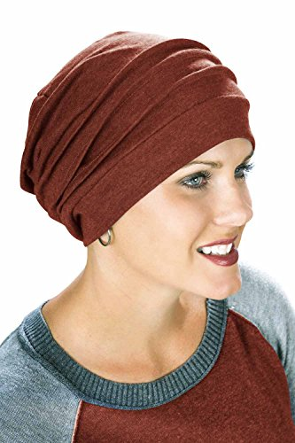 Headcovers Unlimited Slouchy Snood-Caps for Women with Chemo Cancer Hair Loss Autumn (Best Wishes For A Speedy Recovery)