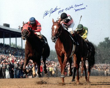 RDB Holdings & Consulting CTBL-a19980 16 x 20 in. Affirmed Signed Kentucky Derby Horse Racing Photo Dual 1978 Triple Crown & Affirmed