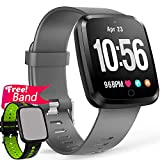 [Gorilla Glass] 1.3'' Smart Watch Fitness Tracker Heart Rate Monitor Blood Pressure