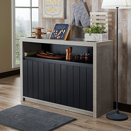 Furniture of America Lamont Industrial Cement-like Multi-storage Dining Buffet Walnut