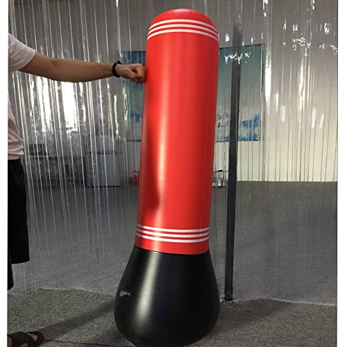 Inflatable Stress Punch Tower Punching Speed Bag Fitness Punching Tower Punching Bag Stand Power Tower Boxing MMA Target Bag for Children Teens Adult CYBX01 (59