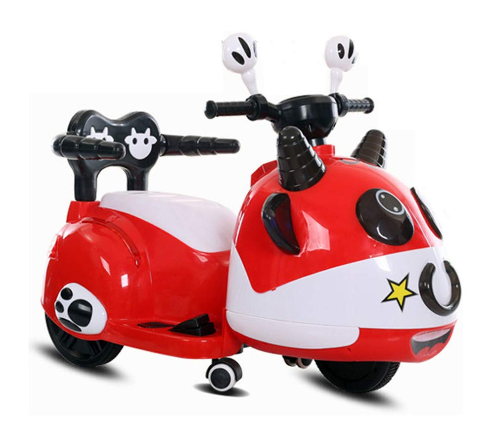Bambino Moto Elettrico Con Telecomando Motocicletta Musica Motocross Con Luce A LED Veicolo Scooter,red