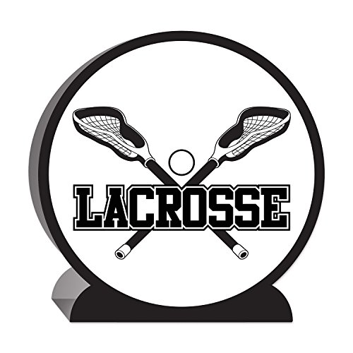Beistle 3-D Lacrosse Centerpiece, 10-Inch, White/Black ()