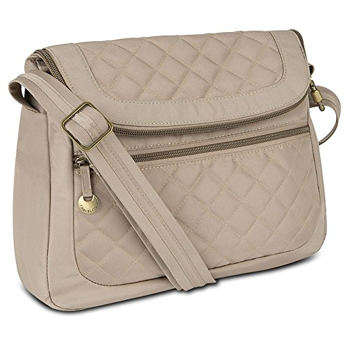 Travelon Anti-Theft Quilted Convertible Handbag with RFID Wallet, Champagne from Travelon