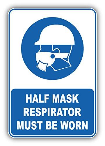 Half Mask Respirator Must Be Worn Mandatory Sign Art Decor Bumper Sticker 3'' x 5''