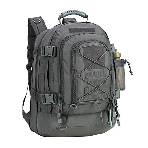 Price comparison product image PANS Expandable Travel Backpack Outdoor Backpack DIY System for Travel,Hiking,Camping (GRAY)