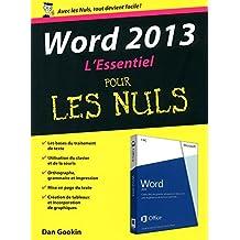 Word 2013: L'essentiel pour les Nuls