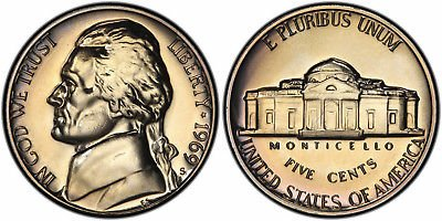 1969 S Proof Jefferson Nickel PF1