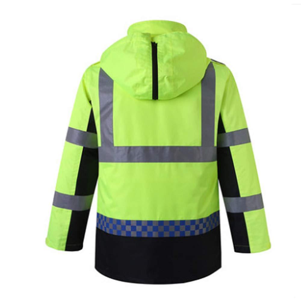 SXZHSM-Toy model Detachable Cotton Coat, Reflective Raincoat, Reflective Clothing, Traffic Duty, Raincoat, Construction, Raincoat, Riding Raincoat Reflective Vests (Size : XL) by SXZHSM-Toy model (Image #3)