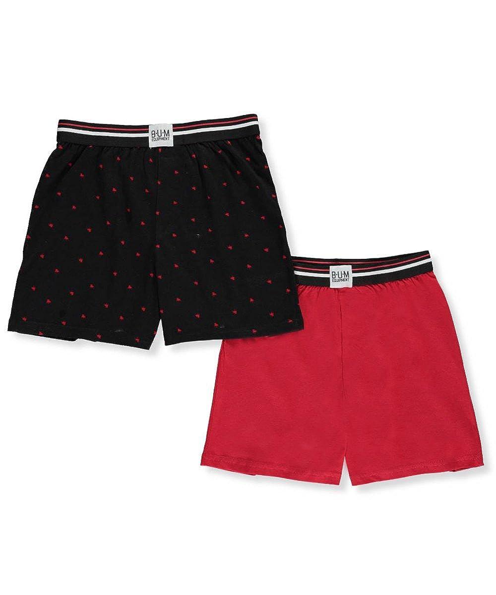 B.U.M. Boy's Knit Boxer Short Underwear (2 Pair Pack)