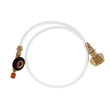 MagiDeal Gas de Exterior Propano Tanque Adaptador de Cilindro Recargable Plano Coupler Válvula Inflable - Estufa de Camping Picnic Kit de Barbacoa: ...