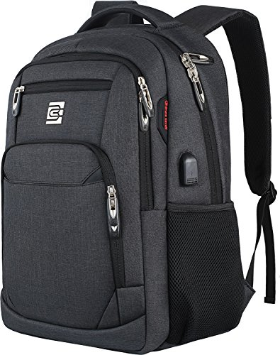 Laptop Backpack,Business Travel Anti Theft Slim Durable Laptops Backpack with USB Charging Port,Water Resistant College School Computer Bag for Women & Men Fits 15.6 Inch Laptop and Notebook - Black (Best School Laptops Under 400)