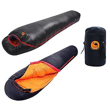 Saco de dormir bolsa 1000 g blanco plumas de pato impermeable 3 - 4 temporada al aire libre senderismo camping 0 - 17 °C., negro: Amazon.es: Deportes y aire ...