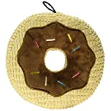 TrustyPup Chocolate Donut Durable Plush Dog Toy