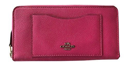 Coach Crossgrain Leather Accordian Zip Wallet, Magenta