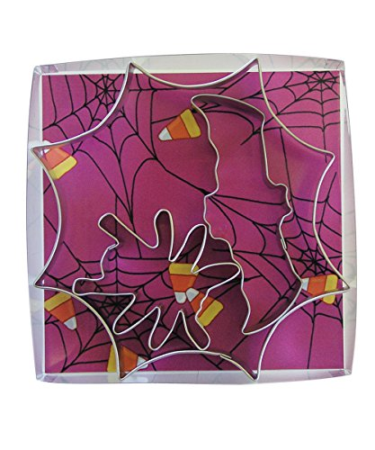 (R&M International 1971/B Spider Web Cookie Cutters, Web, Bat, and Spider, 3-Piece Set)