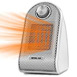 500w Space Heater for Office, Personal Portable Silent Small Room Quiet Heater