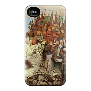 New Cute Funny City In The Head Case Cover/ Iphone 4/4s Case Cover