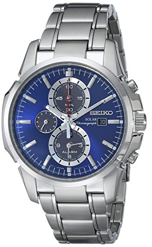Seiko-Mens-SSC085-Classic-Solar-Stainless-Steel-Watch