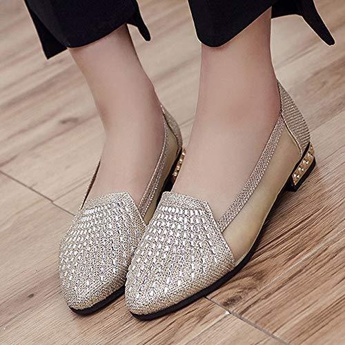 Femme Peu Sandales Bouche Plat Plates Escarpins Sandales Chaussures 01pHUWwq
