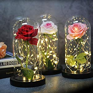 Li-Never Artificial Flower Simulated Rose Home Decoration Ornaments for Girls'Birthday Gifts and New Year Gifts,01 5