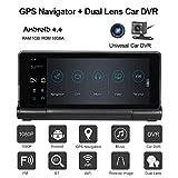 Ocamo 2017 New 7-inch Dual Camera Car DVR Recorder+Car GPS Navigator HD 1080P Android Car GPS Navigator(ADAS WiFi Bluetooth 7-inch Touch G-sensor 180 Degree Rotate Foldable Night Vision DVR Rear View)