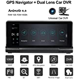 Ocamo 2017 New 7-inch Dual Camera Car DVR Recorder+Car GPS Navigator HD 1080P Android Car GPS Navigator(ADAS WiFi Bluetooth 7-inch Touch G-sensor 180 Degree Rotate Foldable Night Vision DVR Rear View)