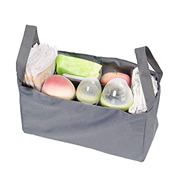 Artempo Baby Travel Portable Diaper Bags Nappy Bags Insert Organizer Storage for Mom with 7 Pockets (Gray)