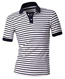 Men's striped polo classic fit Polo shirts
