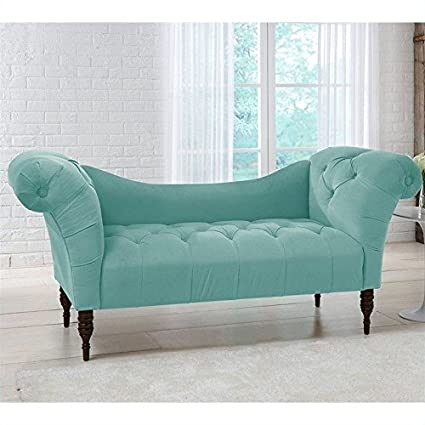 Very Amazon.com: Skyline Furniture Tufted Chaise Lounge in Caribbean  GA09