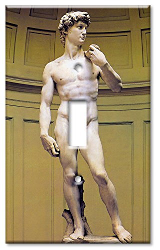 Art Plates - Single Gang Toggle OVERSIZE Switch Plate - Michelangelo's David (Oversized Light Switch Covers)