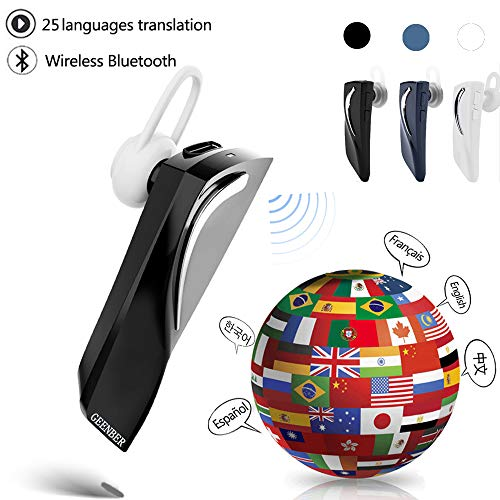 Bluetooth Smart Voice Translator 28 Languages Instant Translate Headphone Wireless Bluetooth Translator Earphone Business Voice Translator (Black)