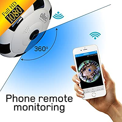 Smart Home Security Camera 360 degree wifi Panoramic security camera 1080p FULL HD wireless Fisheye security camera wide viewing angle