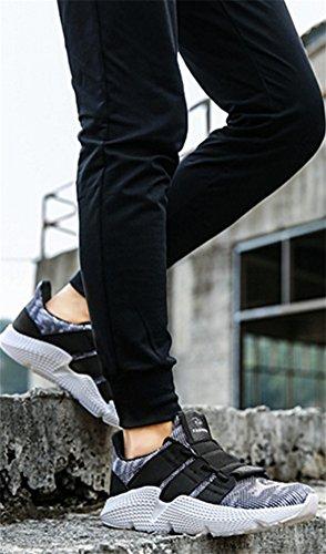Tendencia Verano La Del Respirables Salvajes Casuales Se Hombres Los Zapatos Desodorante Negro Lona Divierten 43 De Renmen Gris Marea 39 qYw8x0