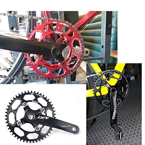 Perfect Most Bicycle Road Bike Mountain Bike MTB Track Fixed-Gear Bicycle COOLOH Black//Red//Green//Blue//Gold//Purple Round//Oval Single Chainring 32T//34T//36T//38T// 104 BCD Bike Narrow Wide Chainrings
