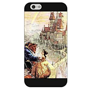 Customized Black Frosted Disney Cartoon Movie Beauty and The Beast iPhone 6 Plus Case, Only fit iPhone 6+ 5.5""