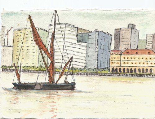 Barge in the City