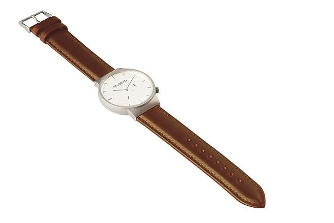 Reloj Mr. Boho Caballero Correa Cuero marrón. 00728466: Amazon.es: Relojes