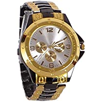 Stylish Watches by Xforia Golden and Black Analog Fashion W