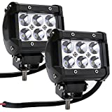 Vansop 2PCS 18W 6500K 6LED Light Bar Car Work ATV Off Road Fog Driving Lamp