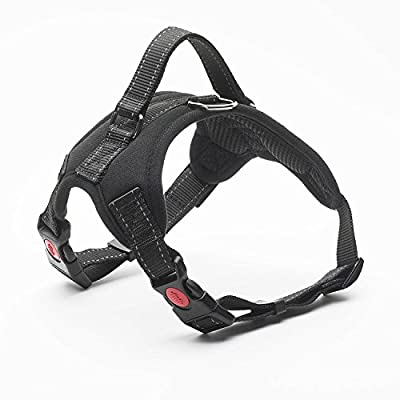 No Pull Dog Harness Vest - Menyda Adjustable Reflective Dog Harness With Handle