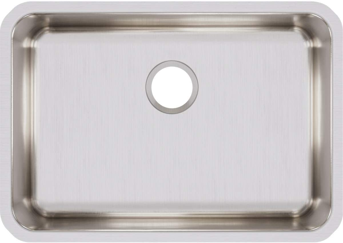 Elkay ELUH2416 Lustertone Classic Single Bowl Undermount Stainless Steel Sink