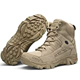 Leoie Men Army Tactical Combat Military Ankle Boots Outdoor Hiking Desert Shoes