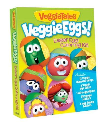 VeggieEggs Easter Egg Coloring Kit [With 38 Veggie Stickers] (VeggieTales)