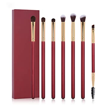 Beito 7PCS / SET Pinceles para sombras de ojos Maquillaje para ojos Cepillos para sombras de ojos Pro Eyebrow Blending Crease Brush Kit Set de brochas ...